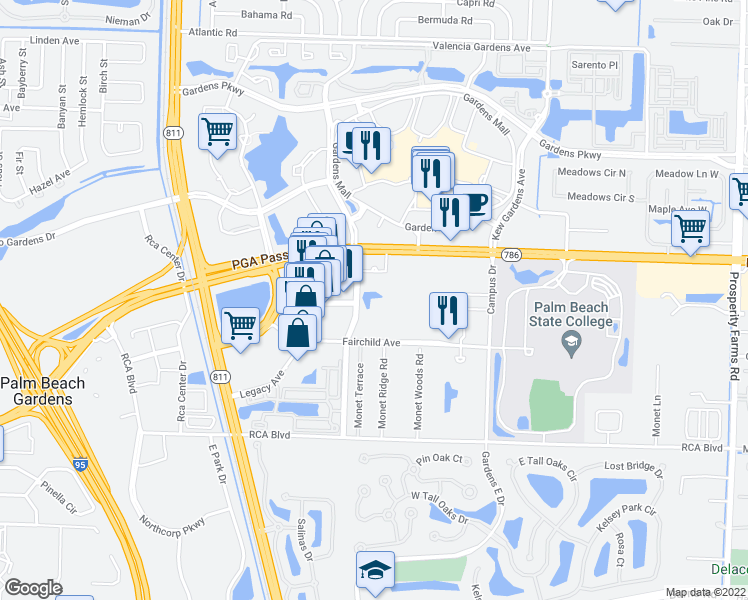 Palm Beach Gardens Florida Map.3266 Florida Blvd Palm Beach Gardens Fl Walk Score