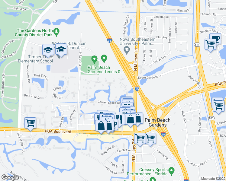 map of restaurants, bars, coffee shops, grocery stores, and more near 714 7th Lane in Palm Beach Gardens