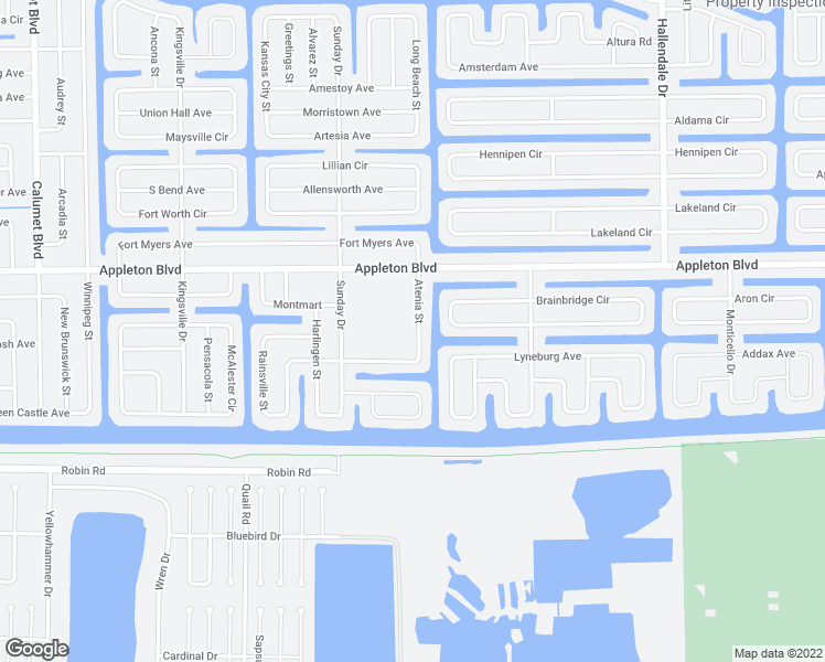 map of restaurants, bars, coffee shops, grocery stores, and more near 10389 Atenia Street in Port Charlotte
