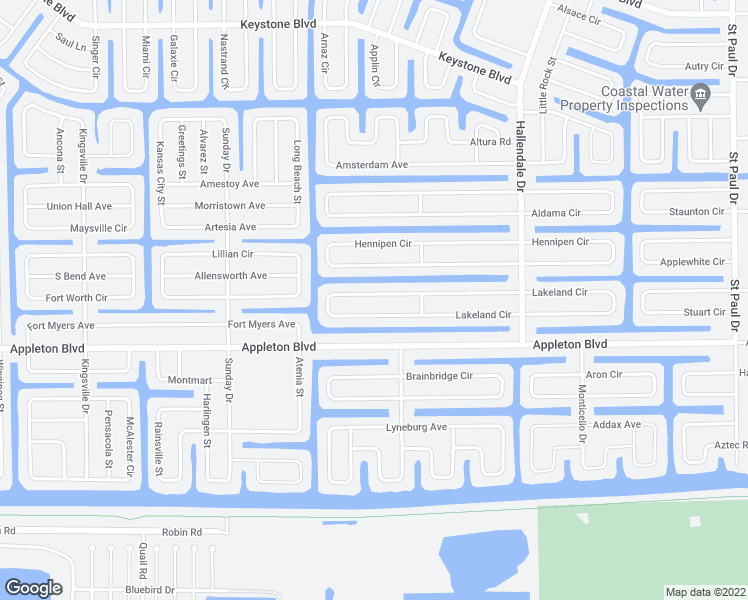 map of restaurants, bars, coffee shops, grocery stores, and more near 15193 Lakeland Circle in Port Charlotte