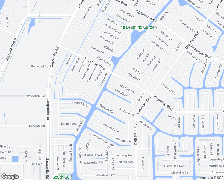 map of restaurants, bars, coffee shops, grocery stores, and more near 13447 Chenile Drive in Port Charlotte