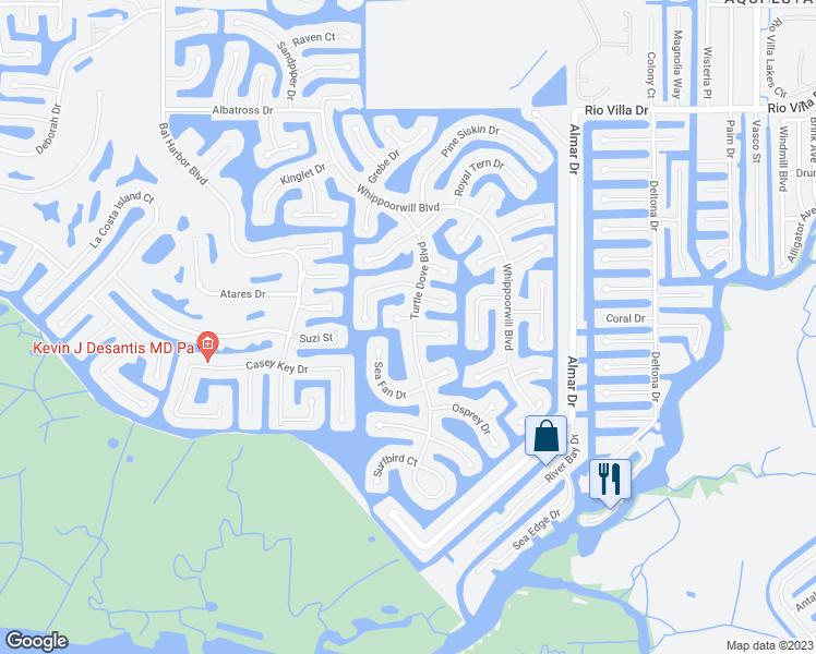 Map Of Punta Gorda Florida.1401 Waxwing Court Punta Gorda Fl Walk Score