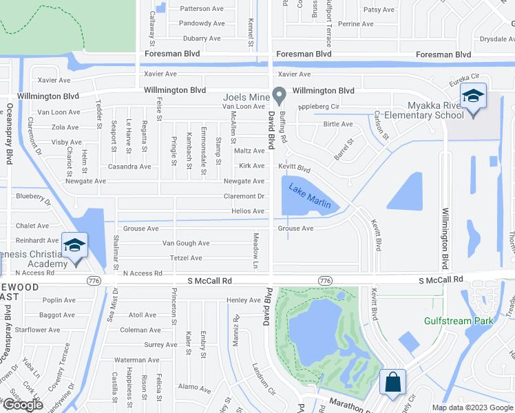 Map Of Port Charlotte Florida.12246 Helios Avenue Port Charlotte Fl Walk Score