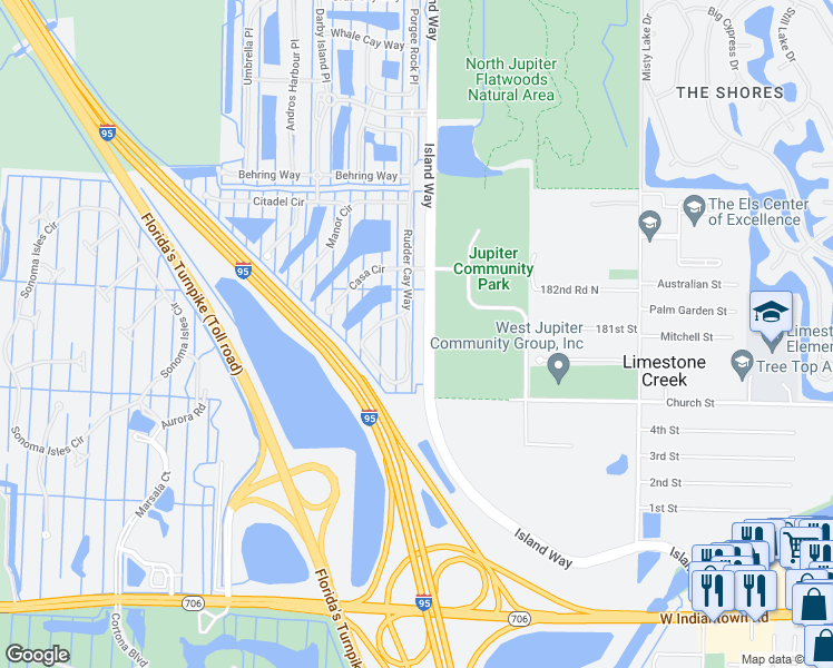 Map Jupiter Florida.459 Rudder Cay Way Jupiter Fl Walk Score