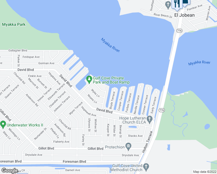 map of restaurants, bars, coffee shops, grocery stores, and more near 5178 Fleming Street in Port Charlotte