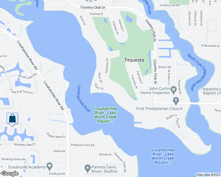 map of restaurants, bars, coffee shops, grocery stores, and more near 100 River Drive in Jupiter