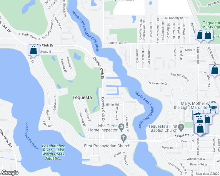 map of restaurants, bars, coffee shops, grocery stores, and more near 15 Leeward Circle in Jupiter