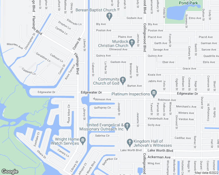 map of restaurants, bars, coffee shops, grocery stores, and more near 17381 Holmes Avenue in Port Charlotte