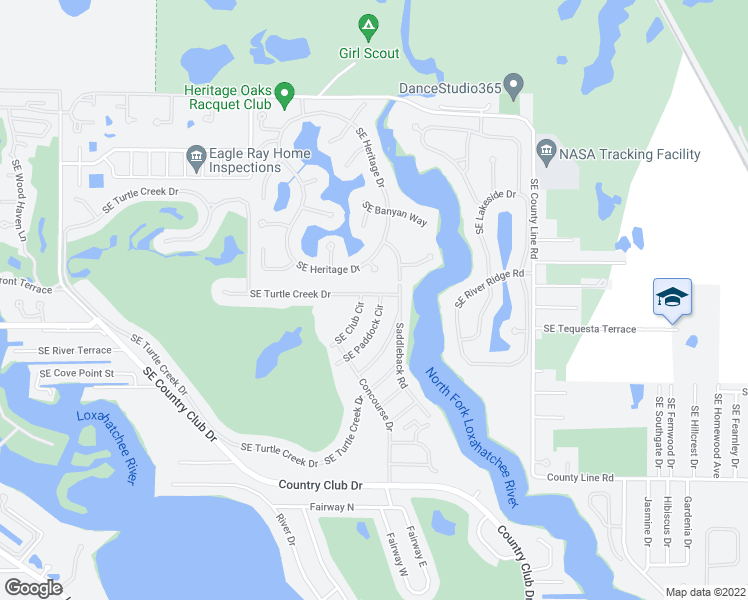 map of restaurants, bars, coffee shops, grocery stores, and more near 4 Southeast Turtle Creek Drive in Tequesta