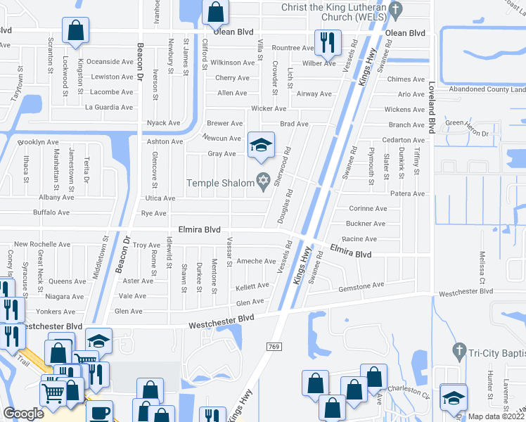 map of restaurants, bars, coffee shops, grocery stores, and more near 23194 Rye Avenue in Punta Gorda
