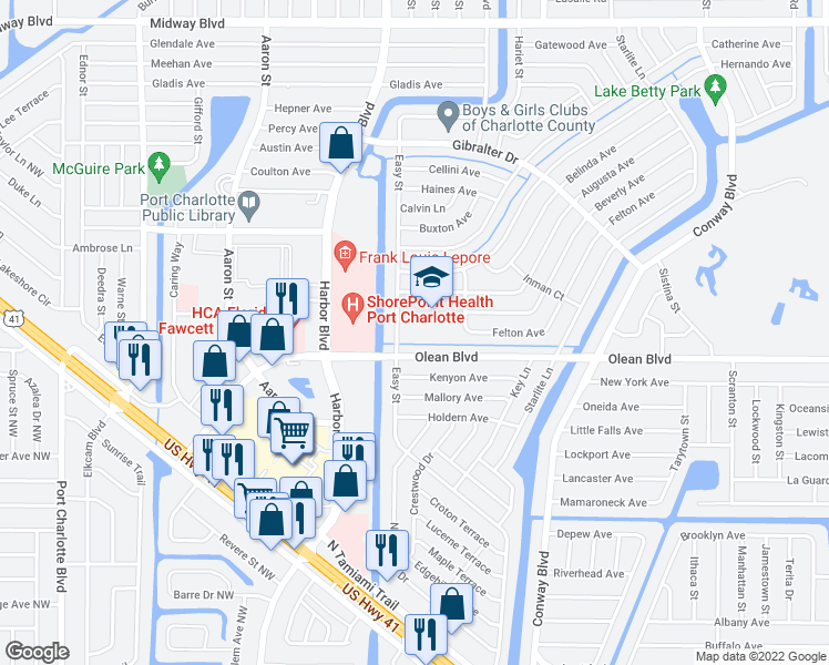 Street Map Port Charlotte Florida.2550 Easy Street Port Charlotte Fl Walk Score