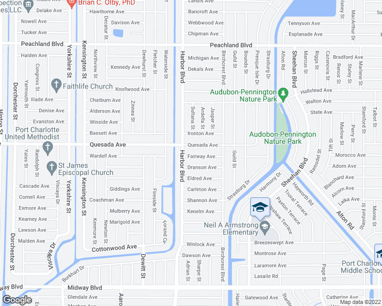 Map Of Port Charlotte Florida.21448 Fairway Avenue Port Charlotte Fl Walk Score