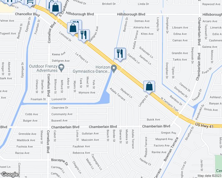 401 425 adalia terrace port charlotte fl walk score for Terrace view map