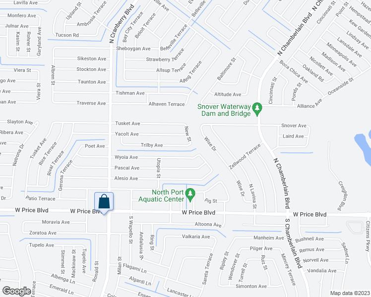 Map Of North Port Florida.2613 Trilby Avenue North Port Fl Walk Score