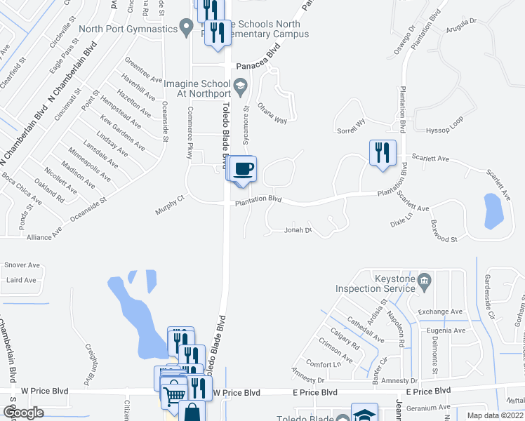 North Port Florida Map.1077 Jonah Drive North Port Fl Walk Score