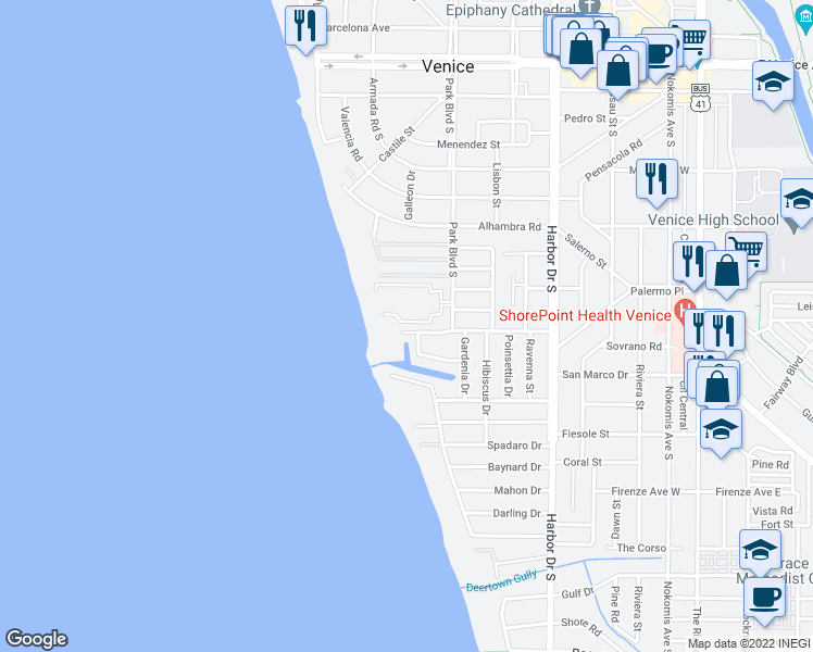 Map Of Venice Florida.620 West Flamingo Drive Venice Fl Walk Score