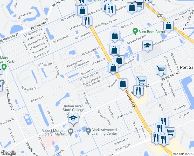 Stuart Florida Map.12 Se Berry Parkway South Stuart Fl Walk Score