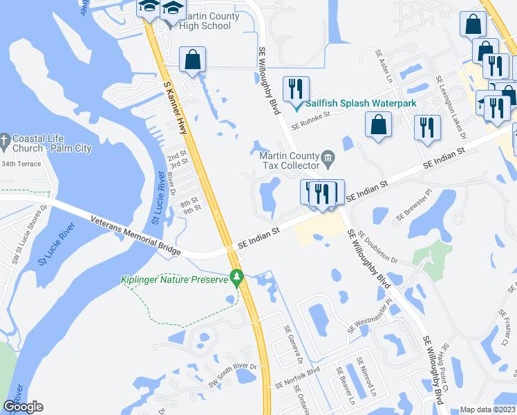 Stuart Florida Map.3640 Southeast Gatehouse Circle Stuart Fl Walk Score