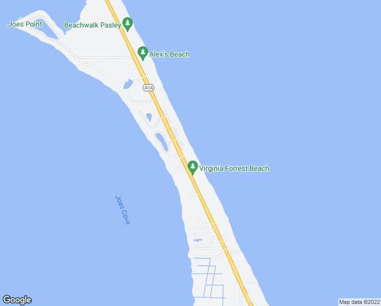 map of restaurants, bars, coffee shops, grocery stores, and more near 2051 Northeast Ocean Boulevard in Stuart