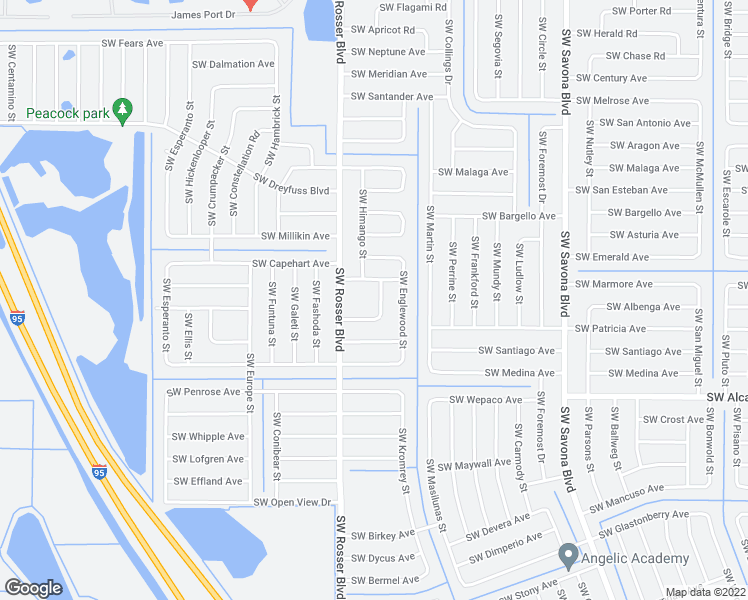 Map Of Port St Lucie Florida.3442 Southwest Emden Street Port St Lucie Fl Walk Score