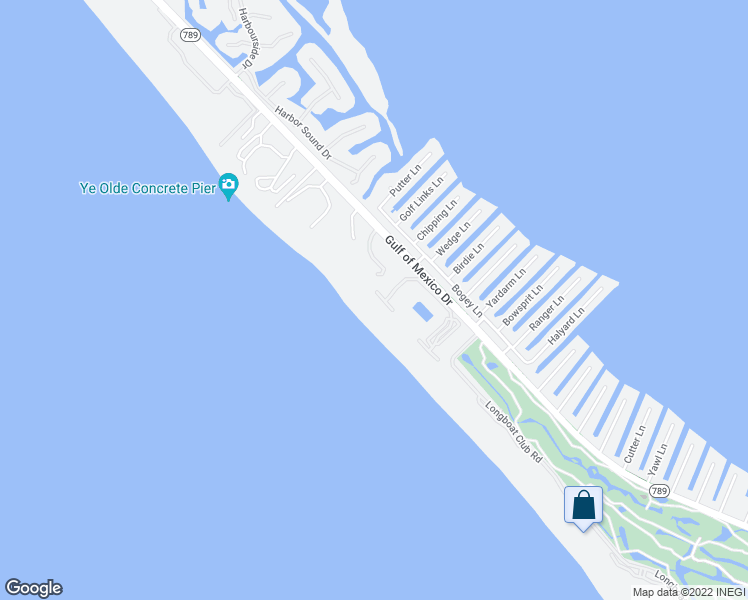 map of restaurants, bars, coffee shops, grocery stores, and more near 1145 Gulf of Mexico Drive in Longboat Key