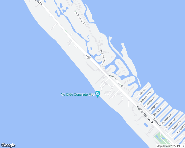 map of restaurants, bars, coffee shops, grocery stores, and more near 1945 Gulf of Mexico Drive in Longboat Key
