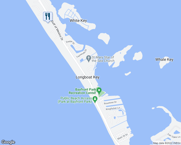 map of restaurants, bars, coffee shops, grocery stores, and more near 4234 Gulf of Mexico Drive in Longboat Key