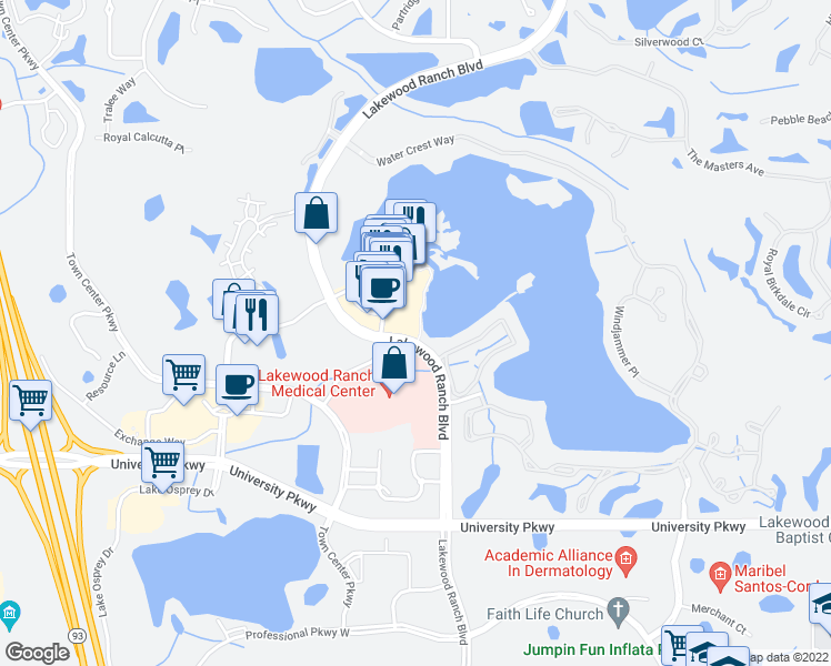Map Of Florida Bradenton.8325 Lakewood Ranch Boulevard Bradenton Fl Walk Score