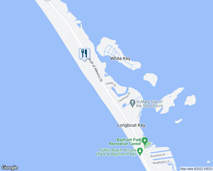 map of restaurants, bars, coffee shops, grocery stores, and more near 4320 Falmouth Drive in Longboat Key