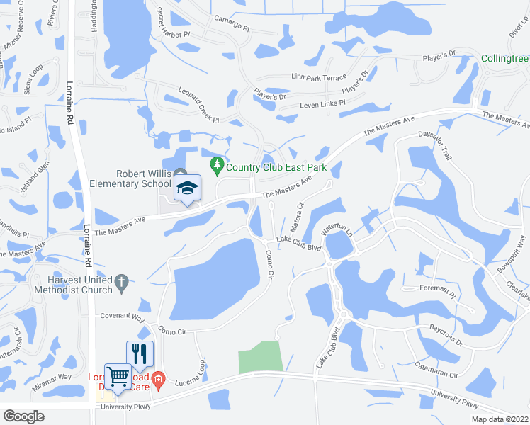 map of restaurants, bars, coffee shops, grocery stores, and more near 7914 Staysail Court in Lakewood Ranch