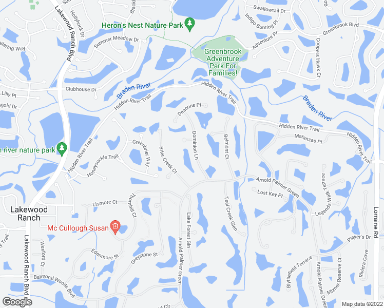 map of restaurants, bars, coffee shops, grocery stores, and more near 6914 Dominion Lane in Lakewood Ranch