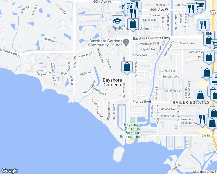 Map Of Bradenton Florida.2807 Baylor Place Bradenton Fl Walk Score