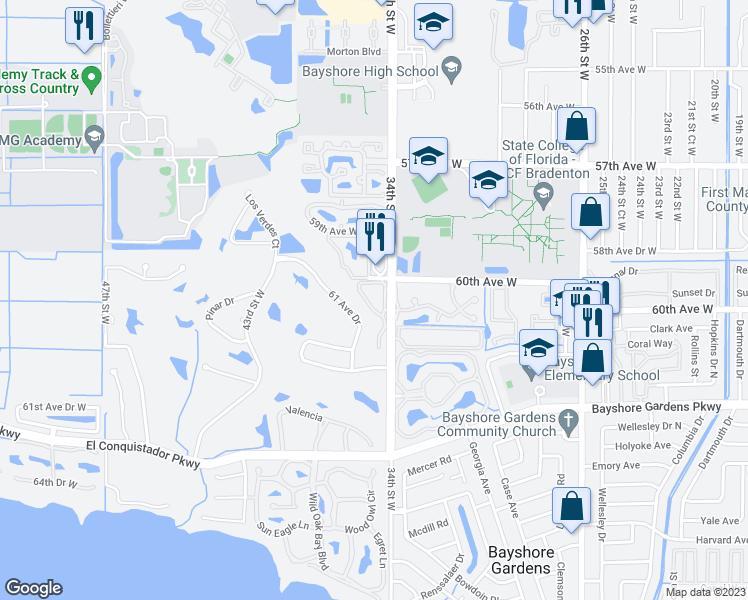 Bradenton Florida Map.6050 34th Street West Bradenton Fl Walk Score