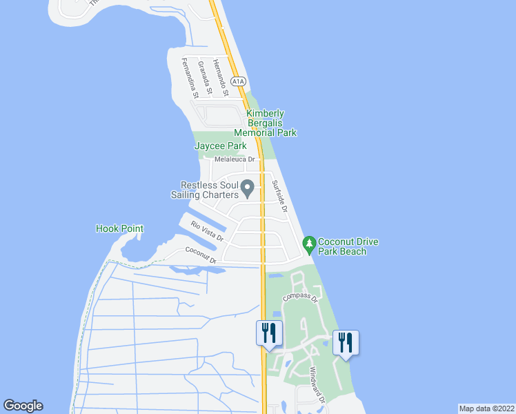 map of restaurants, bars, coffee shops, grocery stores, and more near 1935 Cypress Avenue in Fort Pierce