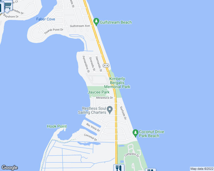 map of restaurants, bars, coffee shops, grocery stores, and more near 2002 Mariner Bay Boulevard in Fort Pierce