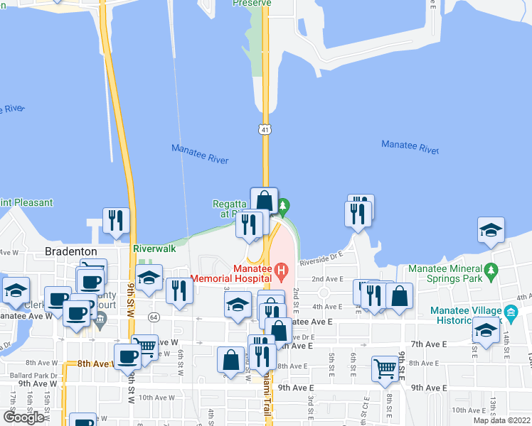 Map Of Restaurants Bars Coffee Shops Grocery Stores And More Near U S