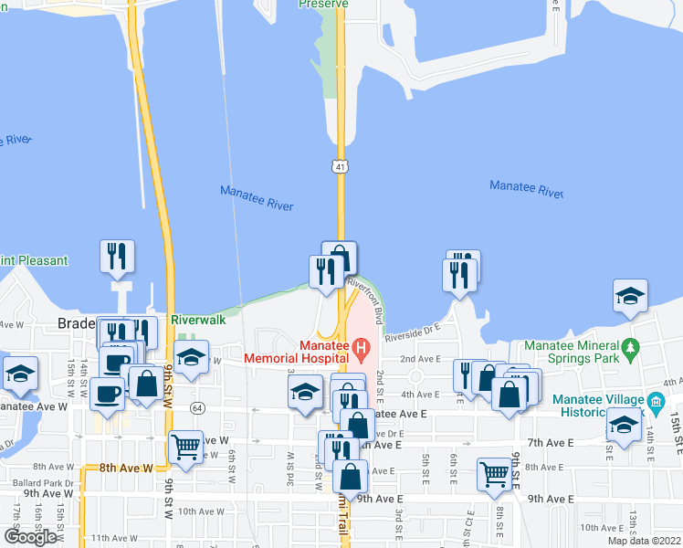 US Desoto Bridge Bradenton FL Walk Score - Us 301 map