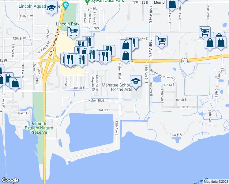 Palmetto Florida Map.699 Haben Boulevard Palmetto Fl Walk Score