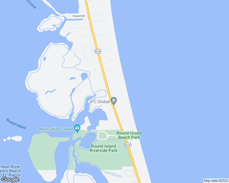 map of restaurants, bars, coffee shops, grocery stores, and more near 1940 Highway A1A in Vero Beach