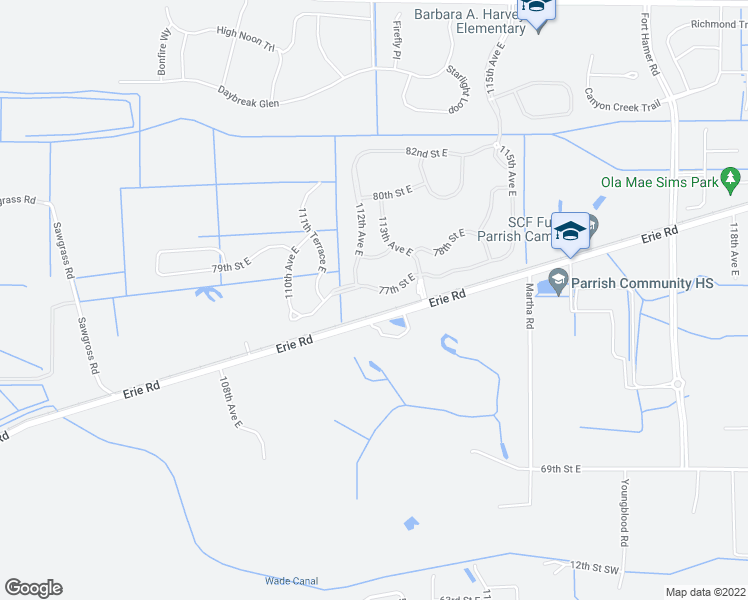 Parrish Florida Map.11217 77th Street East Parrish Fl Walk Score
