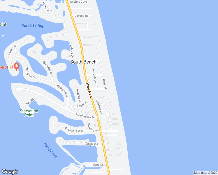 map of restaurants, bars, coffee shops, grocery stores, and more near 890 Reef Road in Vero Beach