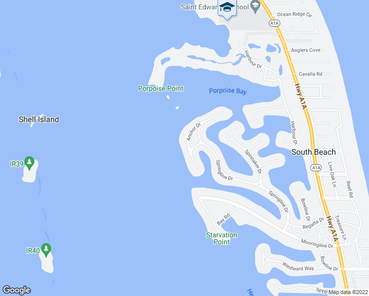 map of restaurants, bars, coffee shops, grocery stores, and more near 145 Anchor Drive in Vero Beach