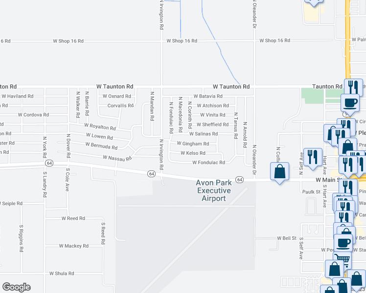 Avon Park Florida Map.1801 West Gingham Road Avon Park Fl Walk Score