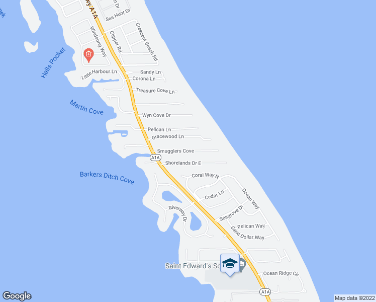 map of restaurants, bars, coffee shops, grocery stores, and more near 1530 Smugglers Cove in Vero Beach