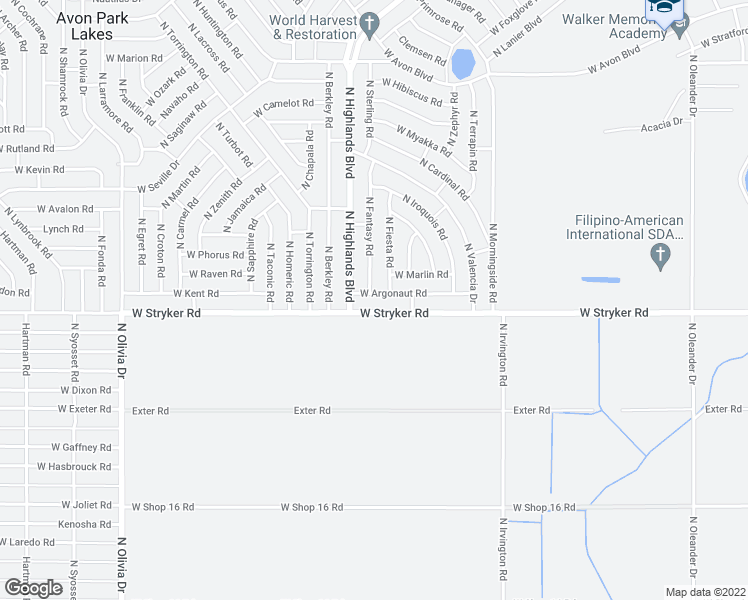 Avon Park Florida Map.2177 West Argonaut Road Avon Park Fl Walk Score