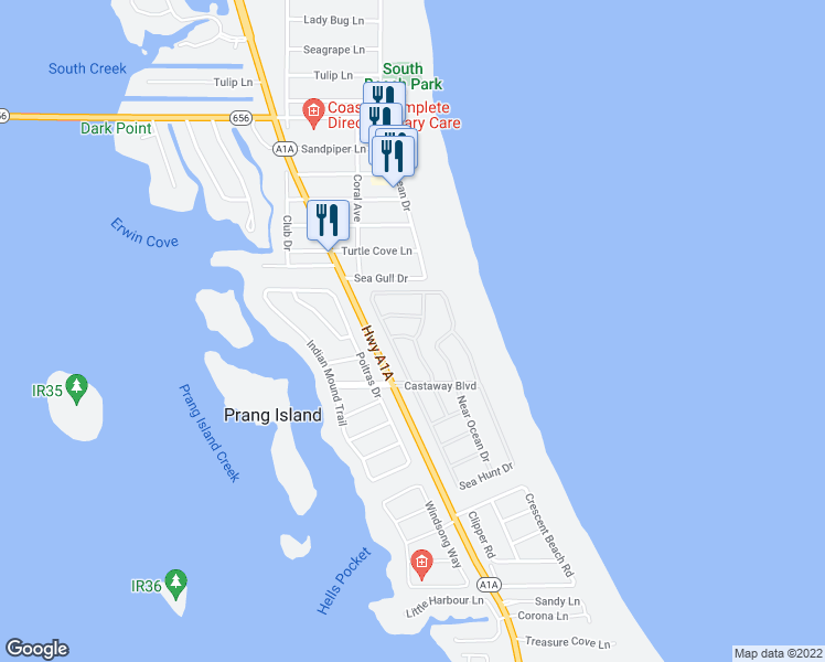 map of restaurants, bars, coffee shops, grocery stores, and more near 1315 Spanish Lace Lane in Vero Beach