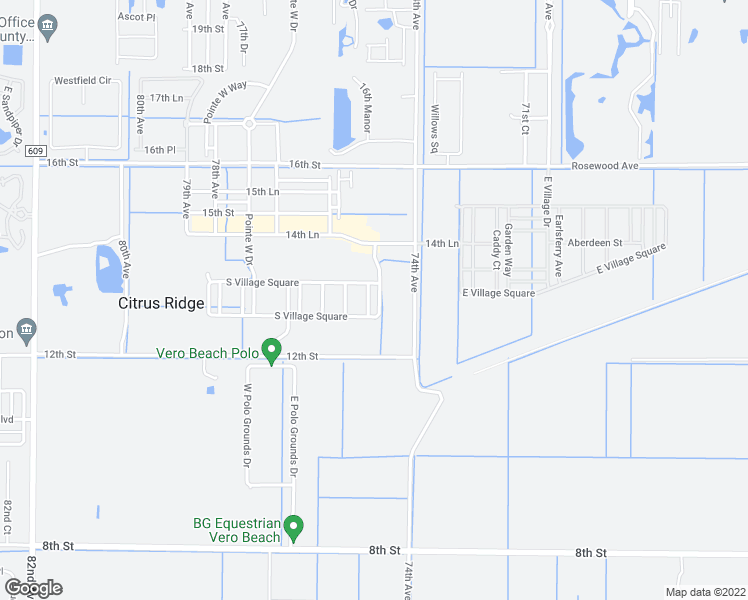 map of restaurants, bars, coffee shops, grocery stores, and more near 1296 Hometown Drive in Vero Beach