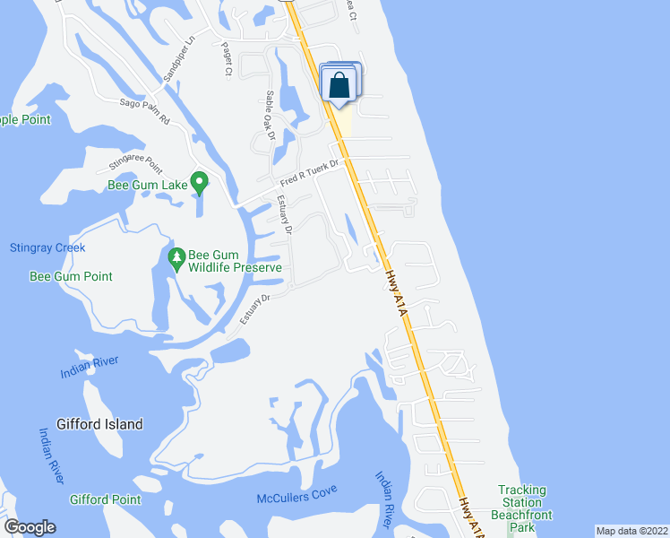 map of restaurants, bars, coffee shops, grocery stores, and more near 250 Lakeview Way in Indian River Shores