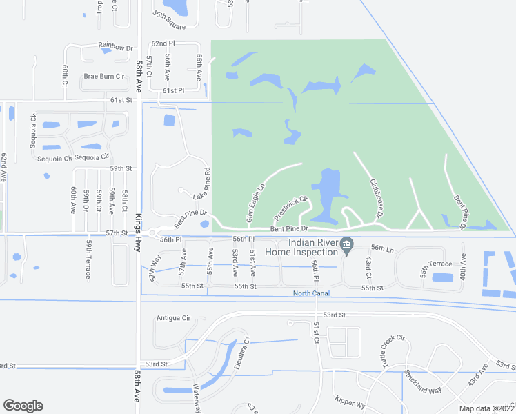 map of restaurants, bars, coffee shops, grocery stores, and more near 5730 Glen Eagle Lane in Vero Beach