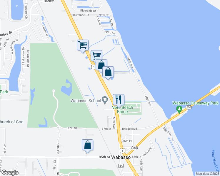 Map Of Sebastian Florida.8980 North Us Highway 1 Sebastian Fl Walk Score